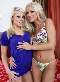 Diana Doll & Shawna Lenee:Girlfriend, Stranger, Bed, Bedroom, Big Dick, Blonde, Blow Job, Facial, Fake Tits, Foreign Accent, Girl on Girl, High Heels, Natural Tits, Piercings, Shaved, Small Tits, Tattoos, Threesome BGG