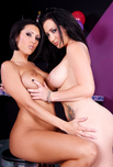 Jayden Jaymes & Dylan Ryder - Jayden Jaymes & Dylan Ryder in 2 Chicks Same Time: Friend, Bar, Couch, Big Tits, Black Hair, Blow Job, Brunette, Facial, Fake Tits, Girl on Girl, High Heels, Shaved, Tattoos, Threesome BGG