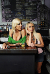 Puma Swede & Nikki Benz - Puma Swede & Nikki Benz in 2 Chicks Same Time: Bartender, Bar, Couch, Public Place, Big Tits, Blonde, Blow Job, Facial, Fake Tits, Girl on Girl, High Heels, Piercings, Shaved, Tattoos, Threesome BGG