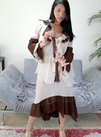 Mika Tan:Wife, Couch, Living room, Asian, Big Ass, Black Hair, Blow Job, Facial, Fake Tits, High Heels, Masturbation, POV