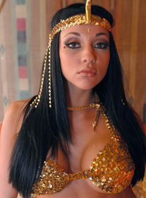 The Belly Dancer:Stranger, Bed, Hotel, Big Tits, Black Hair, Blow Job, Facial, Fake Tits, Shaved
