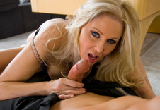 Julia Ann - Julia Ann in Housewife 1 on 1: Friend, Wife, Chair, Locker Room, Ottoman, Pool Table, Big Ass, Big Tits, Blonde, Blow Job, Facial, Fake Tits, Hand Job, High Heels, Mature, POV, Shaved, Tattoos