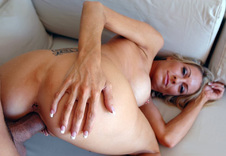 Emma Starr - Emma Starr in Housewife 1 on 1: MILF, Wife, Couch, Living room, Big Fake Tits, Blonde, MILFs, Piercings, POV, Tattoos