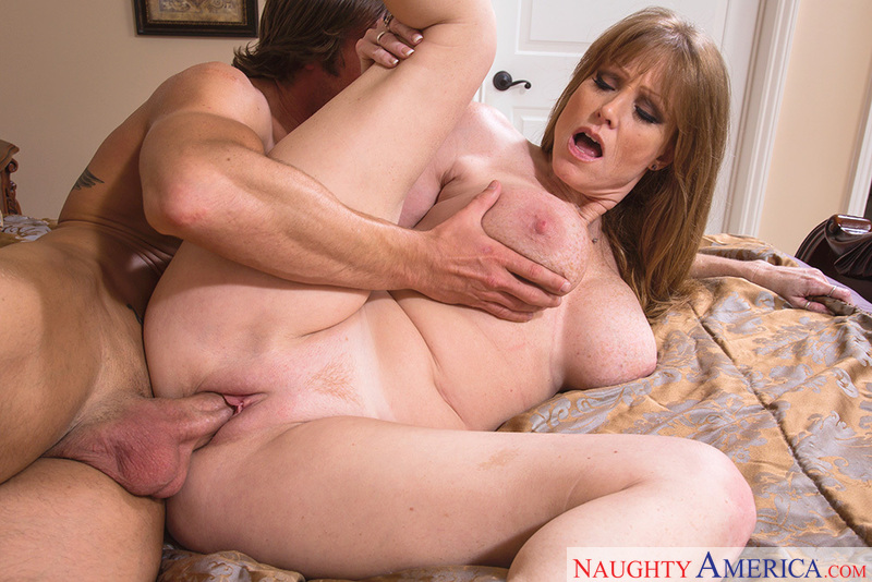 Porn star Darla Crane giving a blowjob