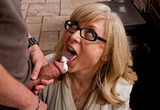 Nina Hartley - Nina Hartley in My Friends Hot Mom: Friend, Friend\'s Mom, MILF, Counter, Kitchen, Kitchen counter, Big Tits, Blonde, Blow Job, Facial, Fake Tits, Glasses, High Heels, Lingerie, Mature, MILFs, Shaved, Stockings