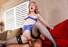 Nina Hartley - Nina Hartley in My Friends Hot Mom: Friend\'s Mom, MILF, Couch, Living room, Ass smacking, Big Ass, Blonde, Blow Job, Facial, Fake Tits, Hand Job, High Heels, Lingerie, Mature, MILFs, Stockings, Swallowing