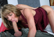 Mrs. LaVeaux:Family Friend, Friend\'s Mom, MILF, Couch, Living room, Brunette, MILFs, Petite, Shaved, Small Tits