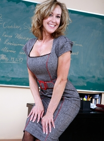 Brandi Love:Professor, Classroom, Desk, Big Ass, Big Fake Tits, Blonde, Piercings, Stockings, Tattoos
