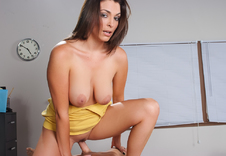 Charlie James - Charlie James in My First Sex Teacher: Teacher, Classroom, Desk, American, Big Dick, Big Natural Tits, Big Tits, Blow Job, Brown Eyes, Brunette, Caucasian, Cum in Mouth, Hand Job, High Heels, Medium Ass, Natural Tits, Outie Pussy, POV, Shaved