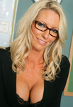 Emma Starr - Emma Starr in My First Sex Teacher: MILF, Professor, Student, Classroom, Desk, Big Fake Tits, Blonde, Glasses, MILFs, Piercings, Shaved, Stockings