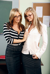 Brooke Banner & Julia Ann - Brooke Banner & Julia Ann in My First Sex Teacher: MILF, Professor, Student, Classroom, Desk, BGG, Big Fake Tits, Big Natural Tits, Blonde, Glasses, MILFs, Shaved, Tattoos, Threesome