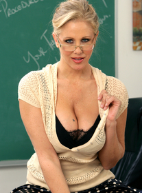 Julia Ann:Professor, Classroom, Desk, Ass licking, Big Tits, Blonde, Blow Job, Facial, Fake Tits, Glasses, Hand Job, High Heels, Mature, Shaved, Swallowing, Tattoos, Titty Fucking