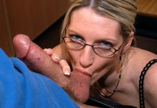 Mrs. Starr #4:MILF, Professor, Student, Classroom, Desk, BBG, Big Fake Tits, Blonde, Glasses, MILFs, Piercings, Stockings, Tattoos, Threesome