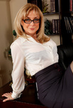 Nina Hartley - Nina Hartley in My First Sex Teacher: Professor, Chair, Desk, Office, Big Ass, Big Dick, Big Tits, Blonde, Blow Job, Cum on Stomach, Fake Tits, Lingerie, Mature, Shaved, Stockings