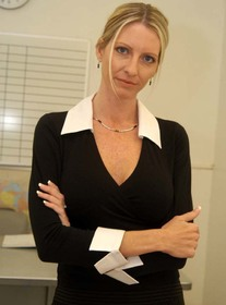 Mrs. Starr #2:MILF, Professor, Student, Classroom, Desk, Big Fake Tits, Blonde, MILFs, Shaved