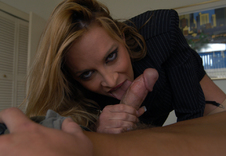 Mrs. Steele:MILF, Professor, Student, Bedroom, Big Fake Tits, Blonde, Hairy bush, MILFs, Stockings