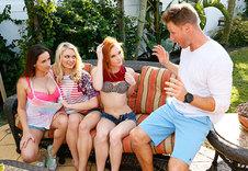 Alex Tanner, Alli Rae, Ashley Adams blowjob