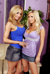Nikki Benz & Lexxi Tyler - Nikki Benz & Lexxi Tyler in Neighbor Affair: Friend, Neighbor, Couch, Living room, Big Fake Tits, Blonde, GG, Petite, Piercings, Shaved, Tattoos