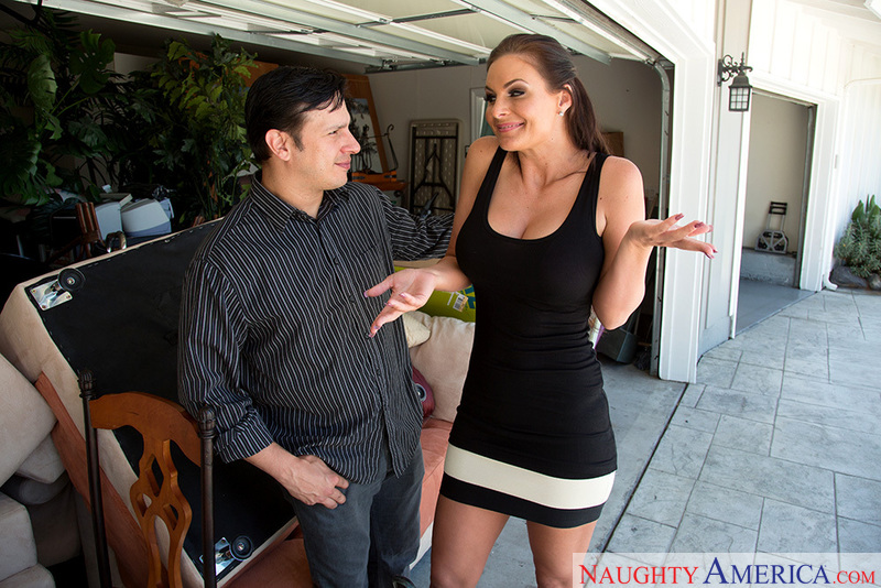Porn star Phoenix Marie getting ready