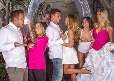 Carter Cruise & Ryan Driller in Naughty Weddings - Centerfold