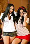 Audrey Bitoni & Presley Maddox - Audrey Bitoni & Presley Maddox in Naughty Bookworms: Bad Girl, Classmate, College Girl, Nerd, Student, Classroom, Desk, Big Tits, Black Hair, Blow Job, Cum Swapping, Fake Tits, Girl on Girl, Glasses, Masturbation, Natural Tits, Piercings, Shaved, Small Tits, Tattoos, Threesome BGG
