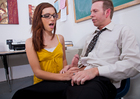 Maryjane Johnson & Mark Wood in Naughty Bookworms - Sex Position 1