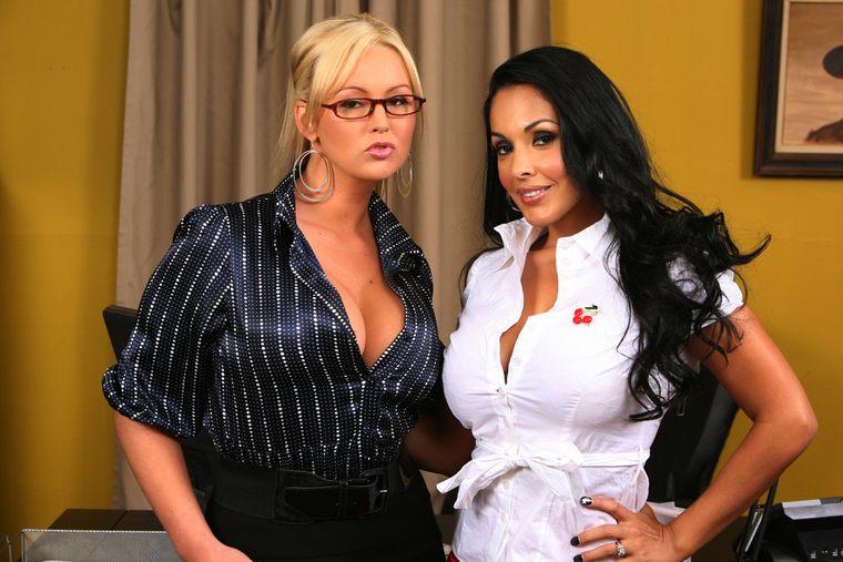 Abbey Brooks and Nina Mercedez
