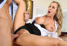 Brandi Love:Boss, Break Room, Chair, Table, American, Athletic Body, Ball licking, Big Ass, Big Fake Tits, Big Tits, Blonde, Blow Job, Brown Eyes, Bubble Butt, Caucasian, Cum on Tits, Dominant, Fake Tits, Mature, MILFs, Trimmed