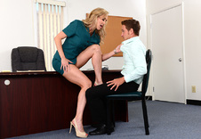 Brandi Love:Boss, Chair, Desk, Office, American, Athletic Body, Ball licking, Big Ass, Big Dick, Big Fake Tits, Big Tits, Blonde, Blow Job, Brown Eyes, Caucasian, Cum on Tits, Fake Tits, High Heels, Mature, Outie Pussy, Tattoos, Titty Fucking, Trimmed