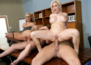 Diamond Foxxx, Phoenix Marie, Christian & Evan Stone in Naughty Office
