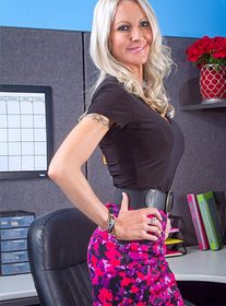 Emma Starr:Bad Girl, Co-worker, Desk, Office, American, Ball licking, Big Fake Tits, Blonde, Blow Job, Caucasian, Cum on Tits, Deepthroating, Fake Tits, Mature, Outie Pussy, Piercings, Shaved, Stockings, Tattoos, Titty Fucking