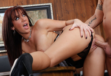 Jayden Jaymes - Jayden Jaymes in Naughty Office: Boss, Desk, Floor, Office, Ball licking, Big Ass, Big Tits, Blow Job, Deepthroating, Facial, Fake Tits, High Heels, Lingerie, Red Head, Shaved