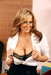 Julia Ann - Julia Ann in Naughty Office: Boss, Janitor, Married Woman, Desk, Office, Big Fake Tits, Blonde, Glasses, MILFs, Shaved, Stockings, Tattoos