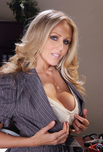 Julia Ann - Julia Ann in Naughty Office: Co-worker, Stranger, Chair, Desk, Big Fake Tits, Blonde, Interracial, Shaved, Tattoos
