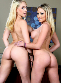 Kagney Linn Karter & Shawna Leneé:Boss, Boss\'s Girlfriend, Couch, Desk, Office, Ass smacking, Ball licking, Big Dick, Big Tits, Blonde, Blow Job, Cum Swapping, Deepthroating, Fake Tits, Girl on Girl, High Heels, Lesbian, Piercings, Shaved, Stockings, Swallowing, Threesome BGG