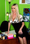 Nikki Benz - Nikki Benz in Naughty Office: Boss, Desk, Office, Big Fake Tits, Blonde, Petite, Piercings, Shaved, Stockings