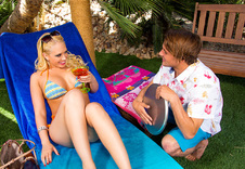 Kagney Linn Karter:Rich Girl, Outdoors, Patio Furniture, American, Big Ass, Big Fake Tits, Big Tits, Blonde, Blow Job, Blue Eyes, Caucasian, Deepthroating, Facial, Fake Tits, Hand Job, Outie Pussy, Piercings, Shaved