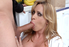 Jennifer Steele:Cougar, MILF, Stranger, Kitchen, Big Fake Tits, Blonde, MILFs, Piercings