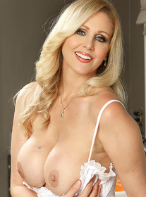 Julia Ann:Client, Cougar, Kitchen, Kitchen counter, American, Average Body, Big Dick, Big Tits, Blonde, Blow Job, Blue Eyes, Caucasian, Deepthroating, Facial, MILFs, Tattoos, Trimmed