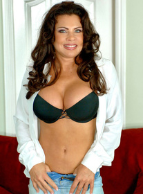 Teri Weigel:Boss, Cougar, MILF, Stranger, Couch, Living room, Big Fake Tits, Brunette, MILFs, Piercings, Shaved