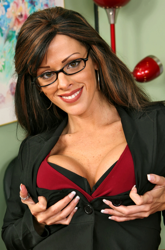 Arianna LaBarbara - xxx pornstar in many Big Fake Tits & Brunette & Professor videos