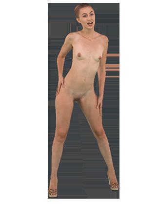 Alexa Grace standing naked wiggling Hologram