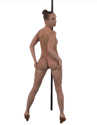 Daisy Stone shaking her naked ass on the pole Hologram