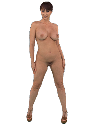 Emily Addison standing naked shaking her big tits Hologram