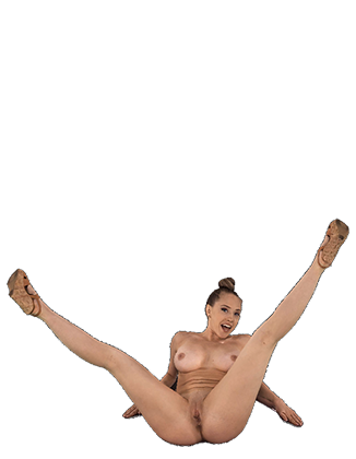 Kagney Linn Karter legs spread naked showing off her pussy Hologram