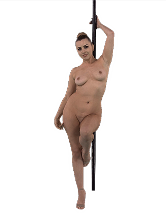 Lexi Belle dancing by the pole naked Hologram