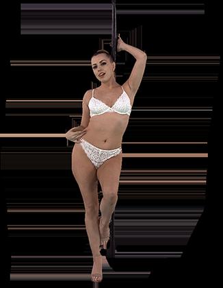 Lexi Belle pole dancing in bra and panties Hologram