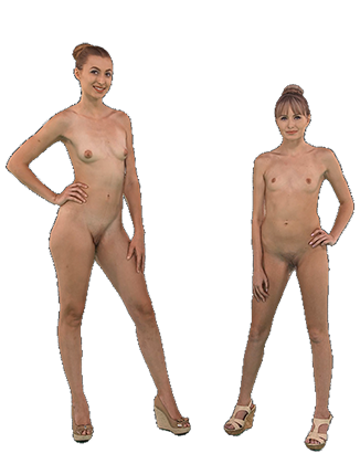 Alexa Grace and Scarlett Sage standing naked Hologram thumbnail #3