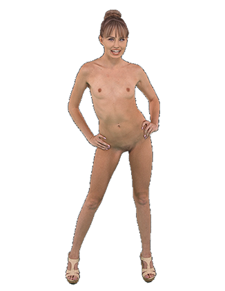 Scarlett Sage standing naked slowly swaying her hips Hologram thumbnail #7