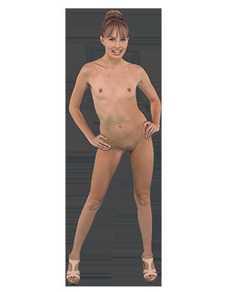 Scarlett Sage standing naked slowly swaying her hips Hologram